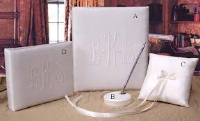 monogram guest book a touch of lace