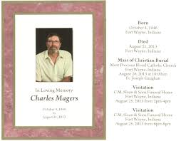 Burial Invitation Card Acgsi Funeral Card Collection