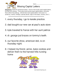capitalization worksheets have fun teaching