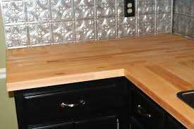 decor u0026 tips chic tin backsplash design with butcher block