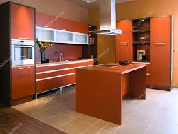 beautiful and modern kitchen interior u2014 stock photo