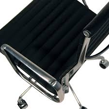 Office Chair Top View Eames Inspired High Back Ribbed Office Chair In Black Leather