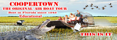 fan boat tours miami coopertown airboats tours