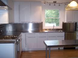 stainless kitchen backsplash stainless steel backsplash installation home interior design