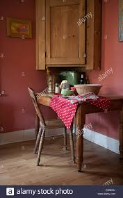 ingredients laid out on an old wooden table in the kitchen in the