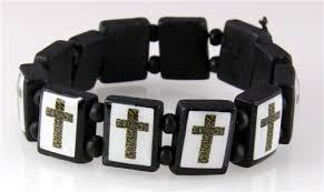 beads with cross bracelet images Wood bead bracelets the quiet witness jpg