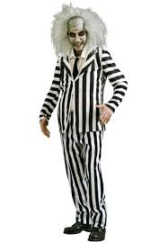 Addams Family Uncle Fester Halloween Costumes by Beetlejuice Costume Mens Fancy Dress Escapade Uk