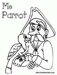 interesting picture series of pirate coloring pages for kids