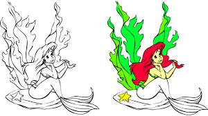 disney little mermaid coloring games pages song nursery rhyme
