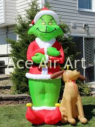 Air Blown Christmas Decorations Gemmy Airblown Inflatable Grinch Animated Christmas Blow Up Grinch