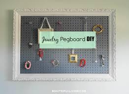 pegboard jewelry organizer home design ideas