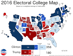 National Election Results Map by Frontloading Hq The Electoral College Map 6 13 16