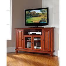 55 inch corner tv stand bell u0027o dark cherry entertainment center pvs3103 the home depot