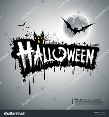 happy halloween text design background vector stock vector