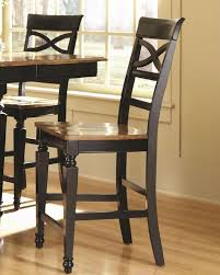 coaster two tone bar stool ashley co 104039 set of 2