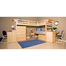 Loft Bunk Bed Desk Bedroom With Wooden Bunk Beds Ideas Two Desk