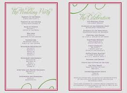 wedding programs sle program for wedding reception format wedding ideas 2018