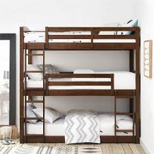 three bunk beds dorel living dorel living sierra triple bunk bed mocha