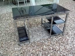 bureau metal et verre bureau verre et métal accolay 89460