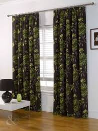 Chocolate Curtains Eyelet Leaves Luxury Green U0026 Chocolate Eyelet Curtain Brown Eyelet