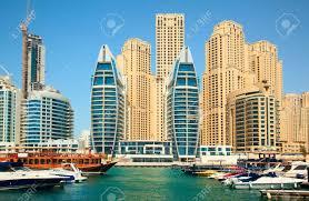dubai modern city on the shore of the persian gulf stock photo