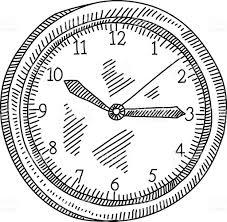 Art Wall Clock by Wall Clock Drawing Stock Vector Art 500050046 Istock