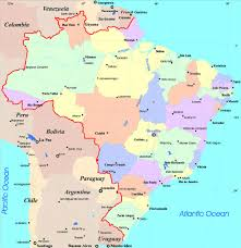 Map Of Spain With Cities by Large Detailed Administrative And Political Map Of Brazil With