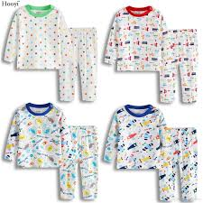 hooyi 2018 baby boys pajamas clothes suit 100 cotton fashion