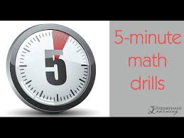 5 minute math drill youtube