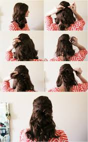hairstyles with steps 13 half up half down hair tutorials