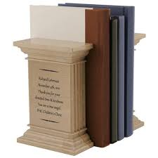 engraved bookends personalized bookends
