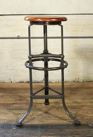Vintage Industrial Bar Stool Reclaimed Wood And Metal Bar Stool Industrial Bar Stool Handmade