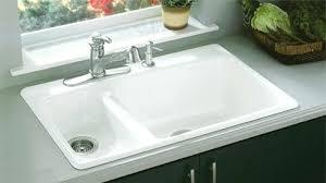 kohler kitchen sinks cast iron kitchen sinks double bowl with black slate sink idea 13