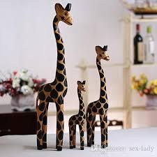 2018 vintage nordic log craft gift giraffe painted animal