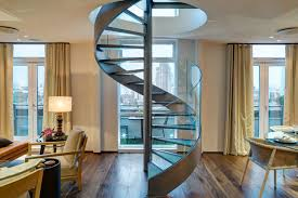 Glass Banister Kits Spiral Staircase Kits Staircase Traditional With Built In Cabinets