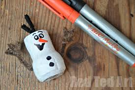 frozen crafts olaf cork ornament ted s
