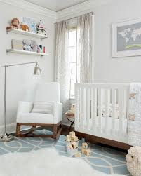 nurseries dwell studio gate azure cream rug pale gray walls