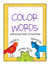 brown bear color words cards free doodle bugs teaching tpt