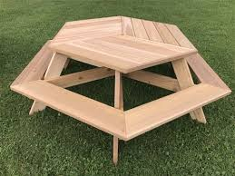 great hexagon picnic tables and 28 best round picnic table images
