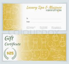 spa massage gift certificate template with hand drawn yoga mats