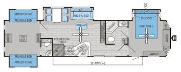 2 bedroom travel trailer floor plans including th wheel with