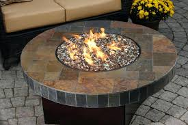 Custom Gas Fire Pits - fire pit lava rock custom gas fire pit country manor block fire