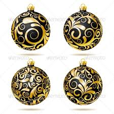 set of black and gold decorations by tassel78 graphicriver