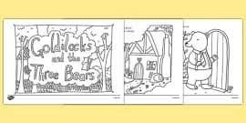 goldilocks bears colouring sheets golidlocks