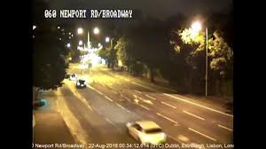 harrowing cctv footage shows a young woman u0027s car being chased