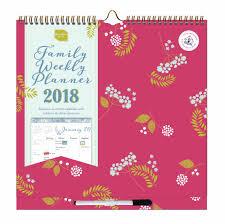 organised mum u0027s family weekly planner 2017 2018 calendar club uk