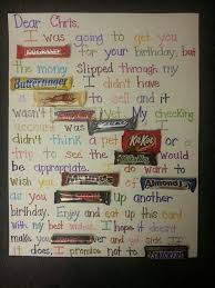 Birthday Card With Bars 50th Birthday Poster Made With Candy Bars Candy Bar Poster