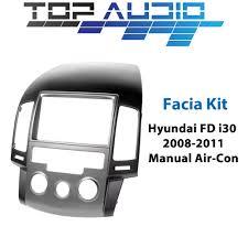 hyundai i30 08 11 manual double din car stereo facia fascia kit