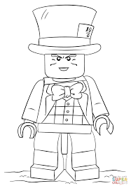 lego mad hatter coloring page free printable coloring pages