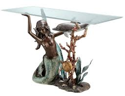dolphin table with glass top mermaid glass top console table elegant glass top console table